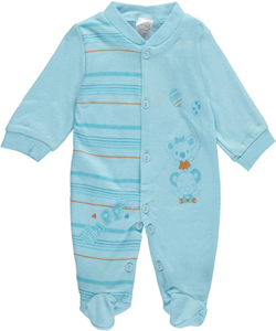 "Honey Baby Unisex Baby ""Happy Lift"" Footed Coverall - CookiesKids.com"