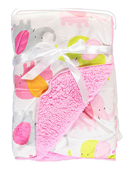 "Baby ""Elephant Party"" Plush Blanket - CookiesKids.com"