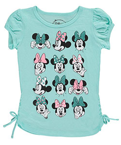 "Minnie Mouse Little Girls' ""Many Faces of Minnie"" Top (Sizes 4 – 6X) - CookiesKids.com"