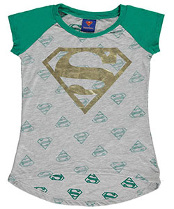 "Superman Little Girls' ""Super S"" T-Shirt (Sizes 4 – 6X) - CookiesKids.com"