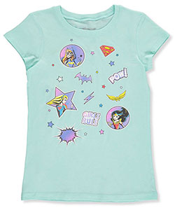"DC Superhero Girls Big Girls' ""Heroic Stars"" T-Shirt (Sizes 7 – 16) - CookiesKids.com"