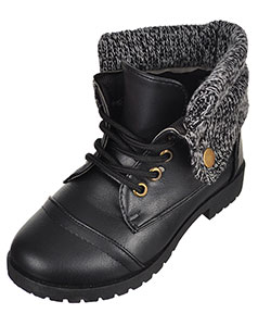 Blue Suede Shoes Girls' Fold-Over Boots (Toddler Sizes 5 – 10) - CookiesKids.com