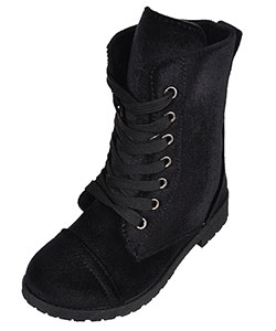 Blue Suede Shoes Girls' Velvet Boots (Toddler Sizes 5 – 10) - CookiesKids.com