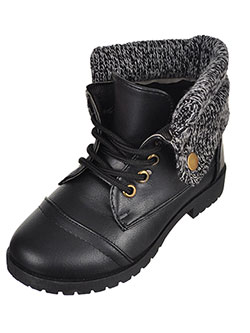 Blue Suede Shoes Girls' Combat Boots (Toddler Sizes 11 – 12) - CookiesKids.com