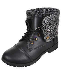 Blue Suede Shoes Girls' Combat Boots (Youth Sizes 13 – 4) - CookiesKids.com