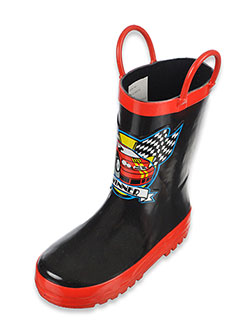 "Joseph Allen Boys ""Racecar Winner"" Rain Boots (Toddler Sizes 7 – 12) - CookiesKids.com"