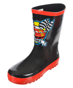 "Joseph Allen Boys ""Racecar Winner"" Rain Boots (Youth Sizes 13 – 4) - CookiesKids.com"