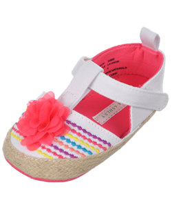 "Laura Ashley Baby Girls' ""Summer Canvas"" Mary Jane Booties - CookiesKids.com"