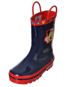 "Mickey Mouse Boys' ""Peek-a-Boo"" Rain Boots (Toddler Sizes 7 – 12) - CookiesKids.com"