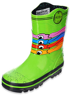 "TMNT Boys' ""Eye Masks"" Rain Boots (Toddler Sizes 7 – 12) - CookiesKids.com"