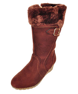 Kensie Girls' Wedge Boots (Youth Sizes 13 – 4) - CookiesKids.com