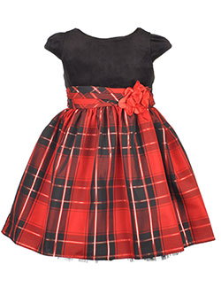 "Youngland Little Girls' Toddler ""Plaid Shine"" Dress (Sizes 2T – 4T) - CookiesKids.com"