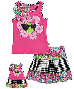 "Dollie & Me Big Girls' ""Rosie"" 2-Piece Outfit with Doll Outfit (Sizes 7 – 16) - CookiesKids.com"