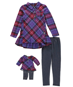 "Dollie & Me Big Girls' ""Cozy Cute"" 2-Piece Outfit with Doll Outfit (Sizes 7 – 16) - CookiesKids.com"