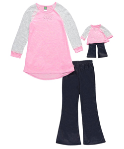 "Dollie & Me Little Girls' ""Metallic Star"" 2-Piece Outfit with Doll Outfit (Sizes 4 – 6X) - CookiesKids.com"