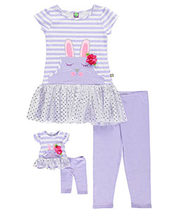 "Dollie & Me Big Girls' ""Sweet Bunny"" 2-Piece Outfit with Doll Outfit (Sizes 7 – 16) - CookiesKids.com"