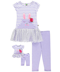 "Dollie & Me Little Girls' ""Sweet Bunny"" 2-Piece Outfit with Doll Outfit (Sizes 4 – 6X) - CookiesKids.com"