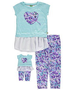 "Dollie & Me Little Girls' ""Patched Heart"" 2-Piece Outfit with Doll Outfit (Sizes 4 – 6X) - CookiesKids.com"
