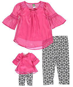 "Dollie & Me Little Girls' ""Mad for Mod"" 2-Piece Outfit with Doll Outfit (Sizes 4 – 6X) - CookiesKids.com"