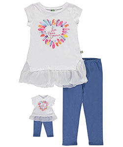 "Dollie & Me Big Girls' ""Live Your Dream"" 2-Piece Outfit with Doll Outfit (Sizes 7 – 16) - CookiesKids.com"