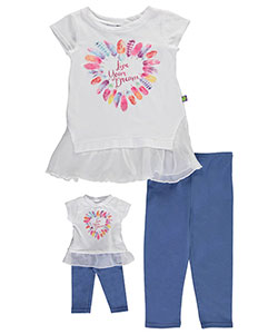 "Dollie & Me Little Girls' ""Live Your Dream"" 2-Piece Outfit with Doll Outfit (Sizes 4 – 6X) - CookiesKids.com"