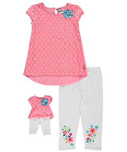 "Dollie & Me Big Girls' ""Peachy Keen"" 2-Piece Outfit with Doll Outfit (Sizes 7 – 16) - CookiesKids.com"