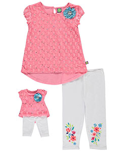 "Dollie & Me Little Girls' ""Peachy Keen"" 2-Piece Outfit with Doll Outfit (Sizes 4 – 6X) - CookiesKids.com"
