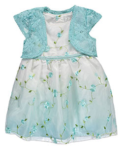 "Youngland Baby Girls' ""Meandering Blossoms"" Dress with Shrug - CookiesKids.com"