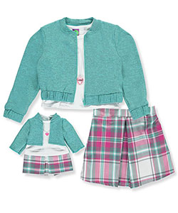 Dollie & Me Little Girls' 3-Piece Outfit with Doll Outfit (Sizes 4 – 6X) - CookiesKids.com