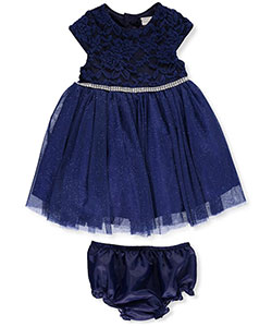 Sweet Heart Rose Baby Girls' Dress with Diaper Cover - CookiesKids.com