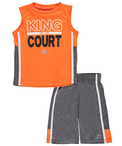 "RBX Little Boys' Toddler ""Hoop King"" 2-Piece Outfit (Sizes 2T – 4T) - CookiesKids.com"
