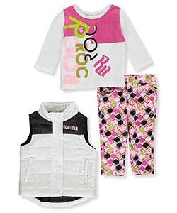 Rocawear Baby Girls' Puffy Vest 3-Piece Outfit - CookiesKids.com