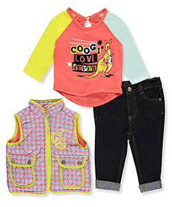 Coogi Baby Girls' Puffy Vest 3-Piece Outfit - CookiesKids.com