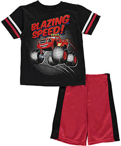 "Blaze and the Monster Machines Little Boys' Toddler ""Speed!"" 2-Piece Outfit (Sizes 2T – 4T) - CookiesKids.com"