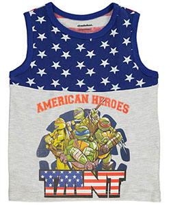 "TMNT Little Boys' Toddler ""American Heroes"" Tank Top (Sizes 2T – 4T) - CookiesKids.com"