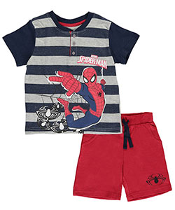 "Spider-Man Little Boys' Toddler ""Spider Stripes"" 2-Piece Outfit (Sizes 4 – 7) - CookiesKids.com"