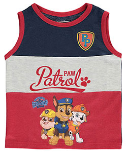 "Paw Patrol Little Boys' ""Here to Help"" Tank Top (Sizes 4 – 7) - CookiesKids.com"