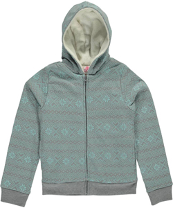 "Dream Star Big Girls' ""Plush Snowflakes"" Hoodie (Sizes 7 – 16) - CookiesKids.com"