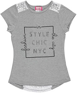 "Dream Star Big Girls' ""Style Chic NYC"" Top (Sizes 7 – 16) - CookiesKids.com"