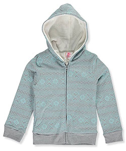 "Dream Star Little Girls' ""Plush Snowflakes"" Hoodie (Sizes 4 – 6X) - CookiesKids.com"