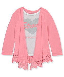 Dream Star Little Girls' Toddler L/S Layer Top (Sizes 2T – 4T) - CookiesKids.com