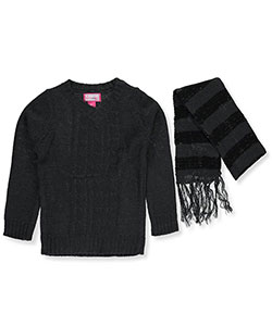 Dream Star Little Girls' Sweater with Scarf (Sizes 4 – 6X) - CookiesKids.com