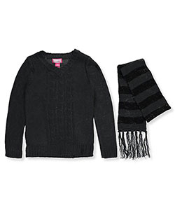 Dream Star Big Girls' Sweater with Scarf (Sizes 7 – 16) - CookiesKids.com