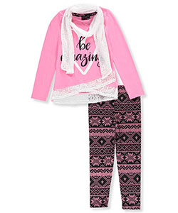 Dream Star Big Girls' 2-Piece Outfit with Scarf (Sizes 7 – 16) - CookiesKids.com
