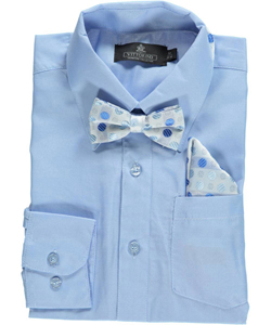 Vittorino Big Boys' Dress Shirt with Tie & Matching Pocket Square (Sizes 8 - 20) - CookiesKids.com