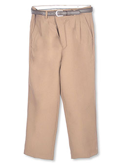Vittorino Big Boys' Husky Pleated Belted Dress Pants (Husky Sizes) - CookiesKids.com