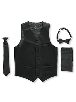 Vittorino Big Boys' 4-Piece Vest & Accessories Set (Sizes 8 – 20) - CookiesKids.com