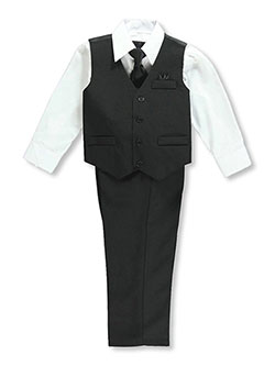 Vittorino Little Boys' 4-Piece Vest Set (Sizes 4 – 7) - CookiesKids.com