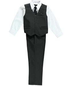 Vittorino Big Boys' 4-Piece Vest Set (Sizes 8 – 20) - CookiesKids.com