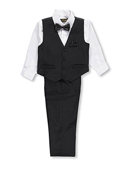 K.C. Collections Big Boys' 4-Piece Vest Set (Sizes 8 – 20) - CookiesKids.com